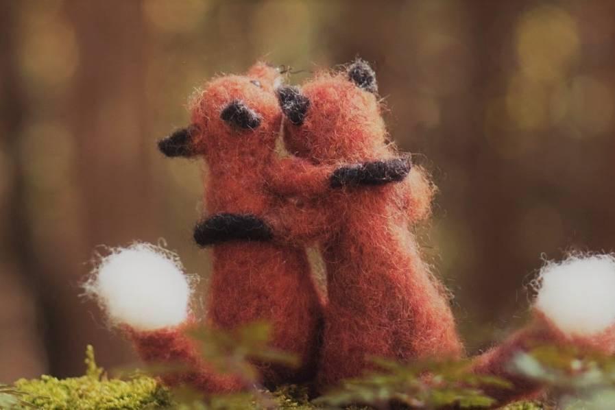 WoolZoo, handgemacht, Filztiere, Künstlerin, Kindergeschenk, Kuscheltier, Füchse