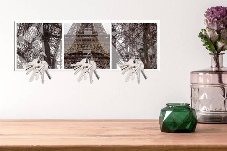 Schlüsselbrett, Paris, Eiffelturm, Fotografie, Fotokunst, Wanddeko, Geschenkidee