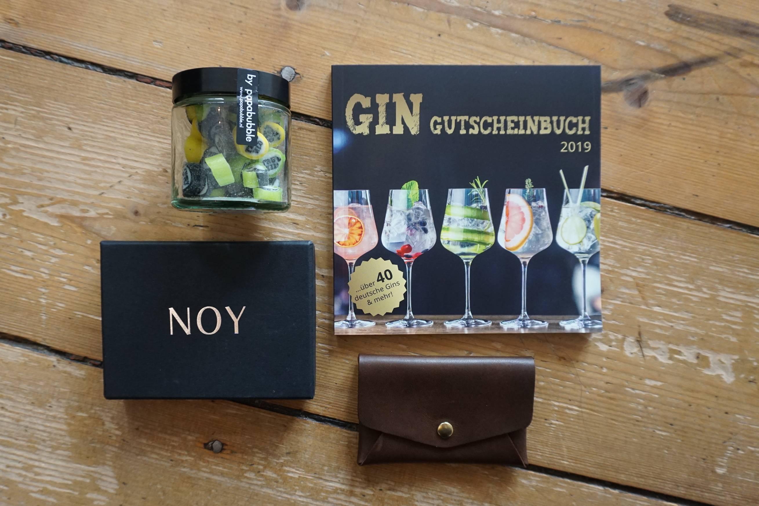 Gin, Gutscheinbox, Bonbon, Origami Wallet, Verlosung
