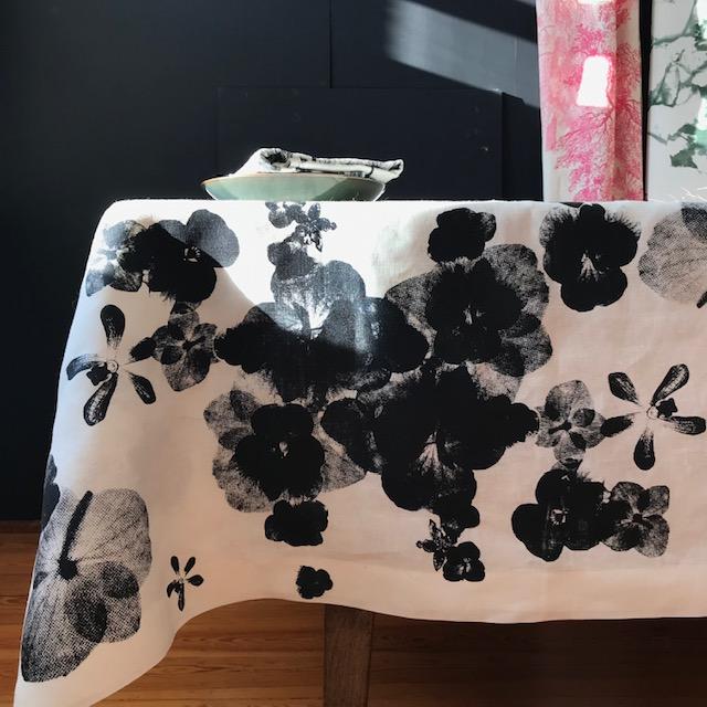 Brigit Morgenstern Tischdecke Siebdruck handgemacht