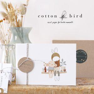 cottonbird Geburtstkarten Babykarte