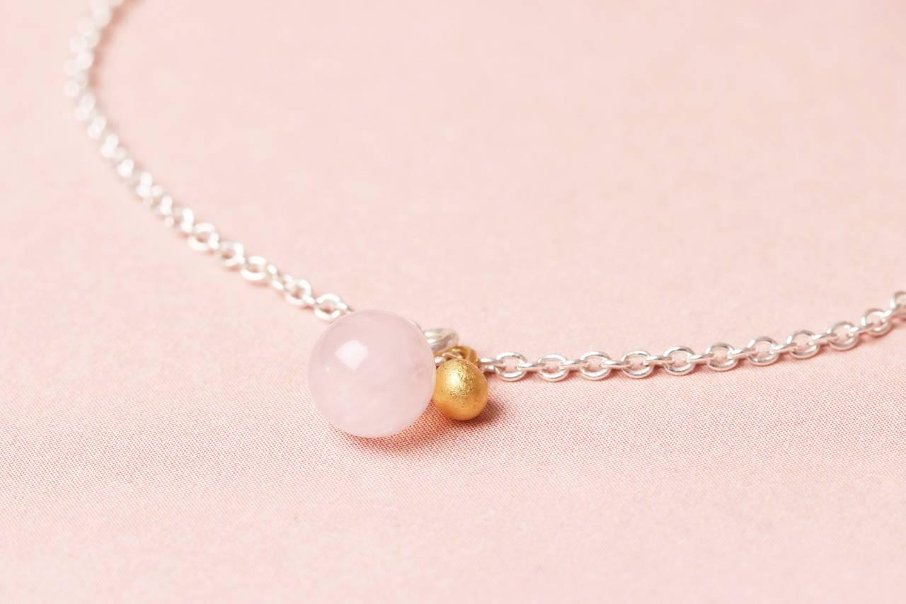 BaBa Goldkorn mit Rosenquarz BaBa Jewellery-handgemacht