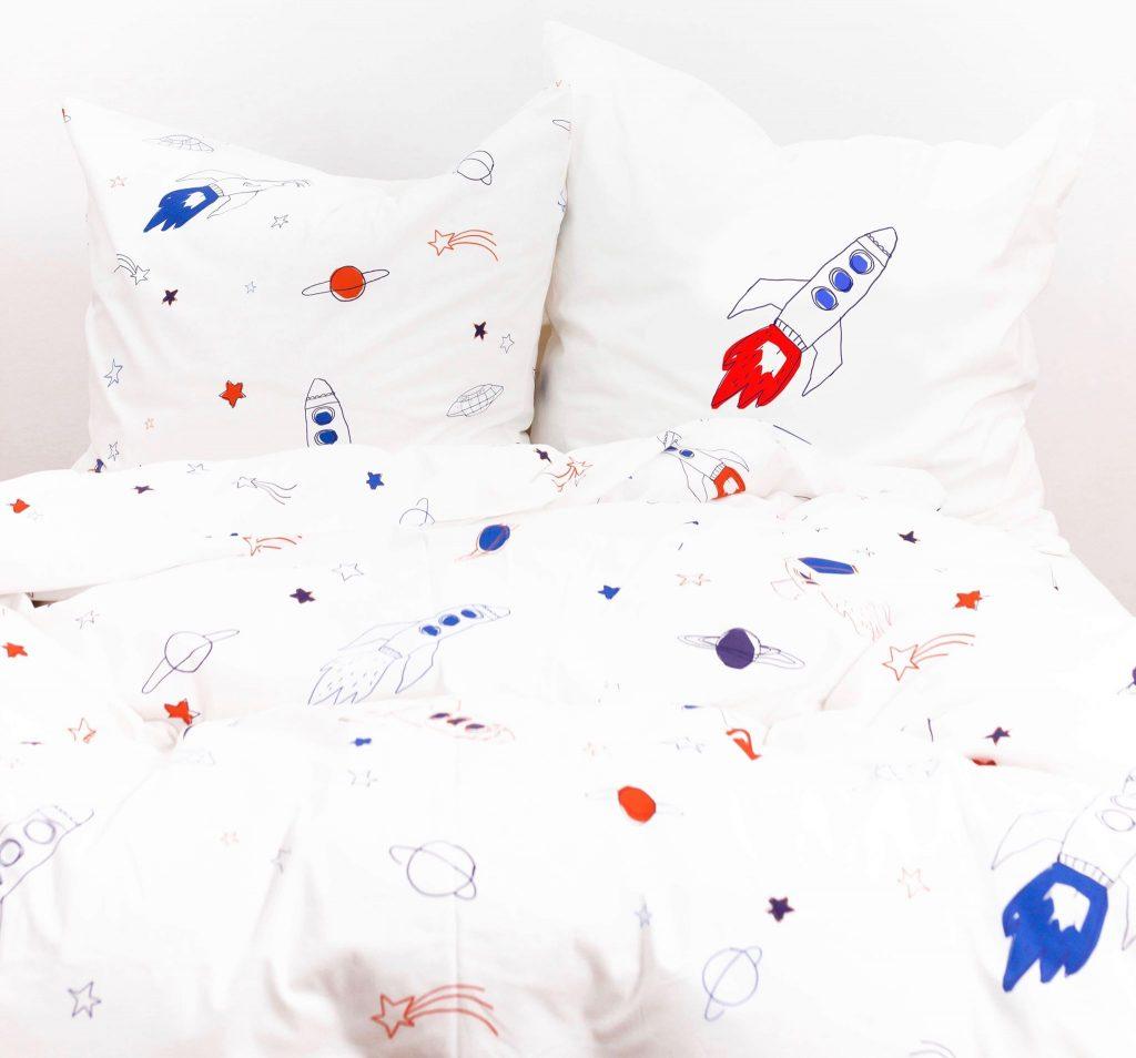 Katha-Covers-Kinderbettwäsche-Raketen-Baumwolle