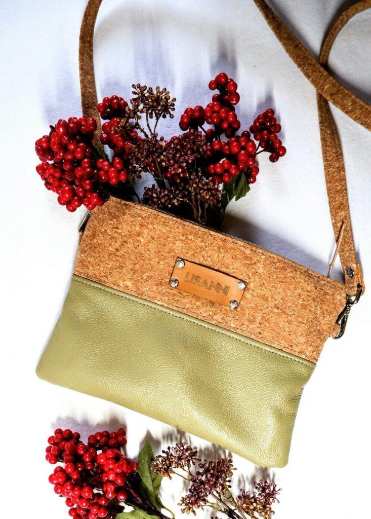Lisanni-Tasche-handgenäht-Kork-Leder