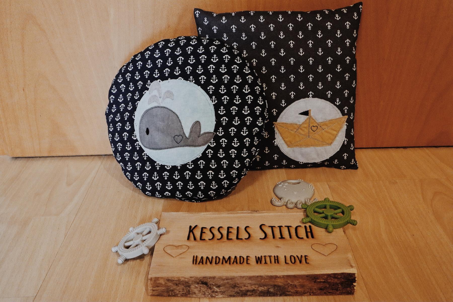 Kessels-Stitch-Kissen-sticken-Wal-Segelboot