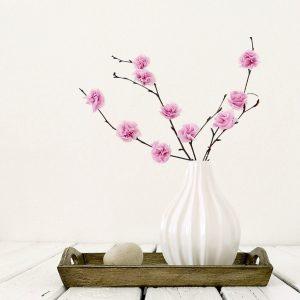 Papierblüten-Kirschblüten-Frühlingsdeko