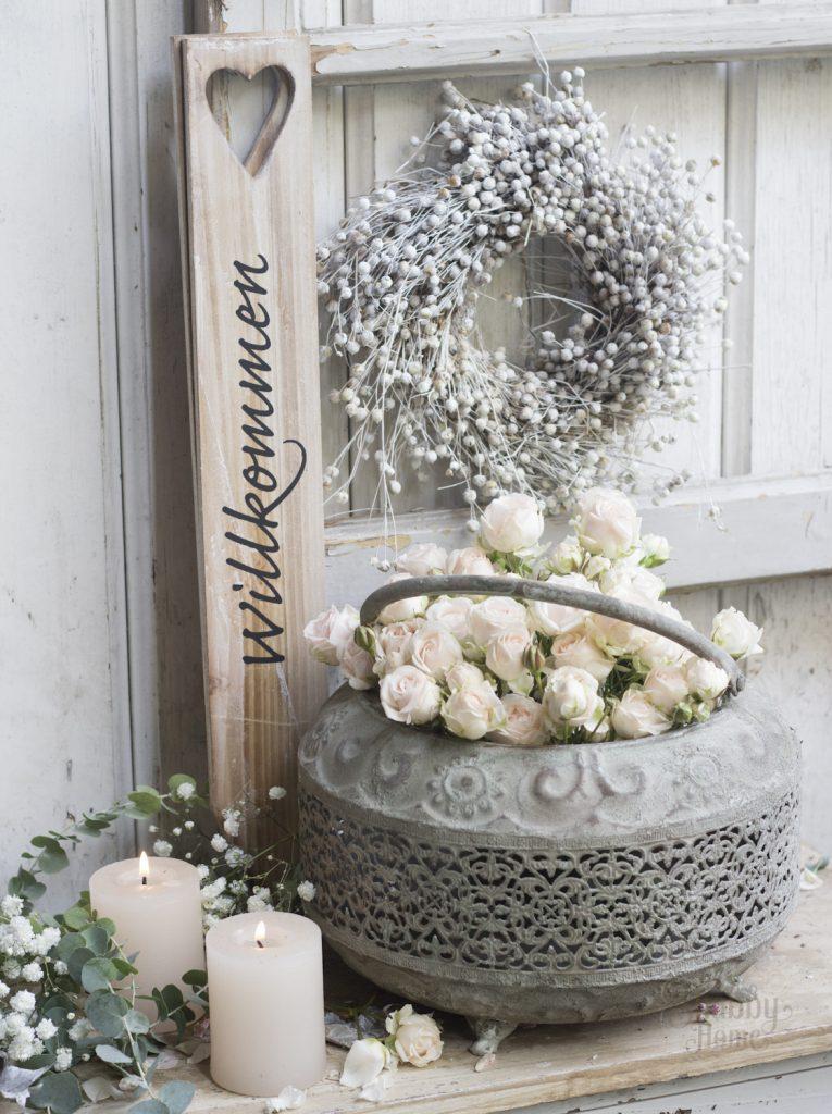 Shabby-Hone-Blumen-Floristik