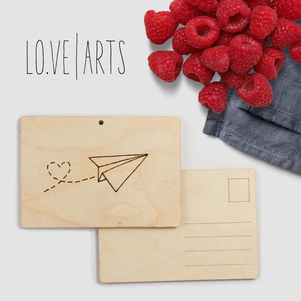Lovearts-Holzpostkarte-Handgemacht-Personalisierte-Geschenke