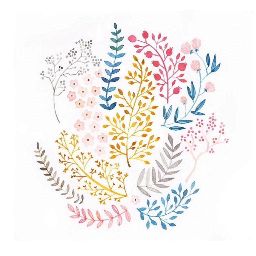 Archer-and-Olive-Gouache-Blüten