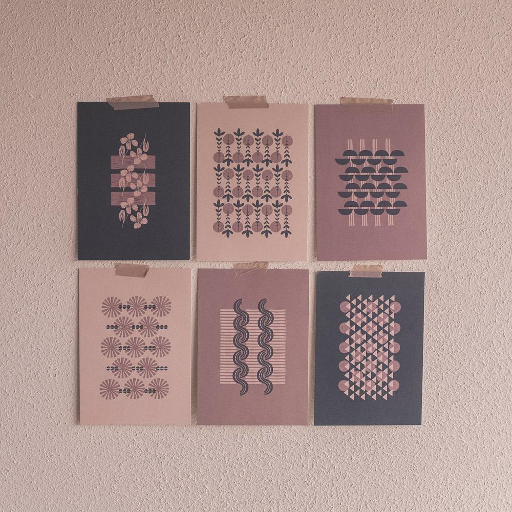 Birgit Maria-handemacht-Papier-Postkarten