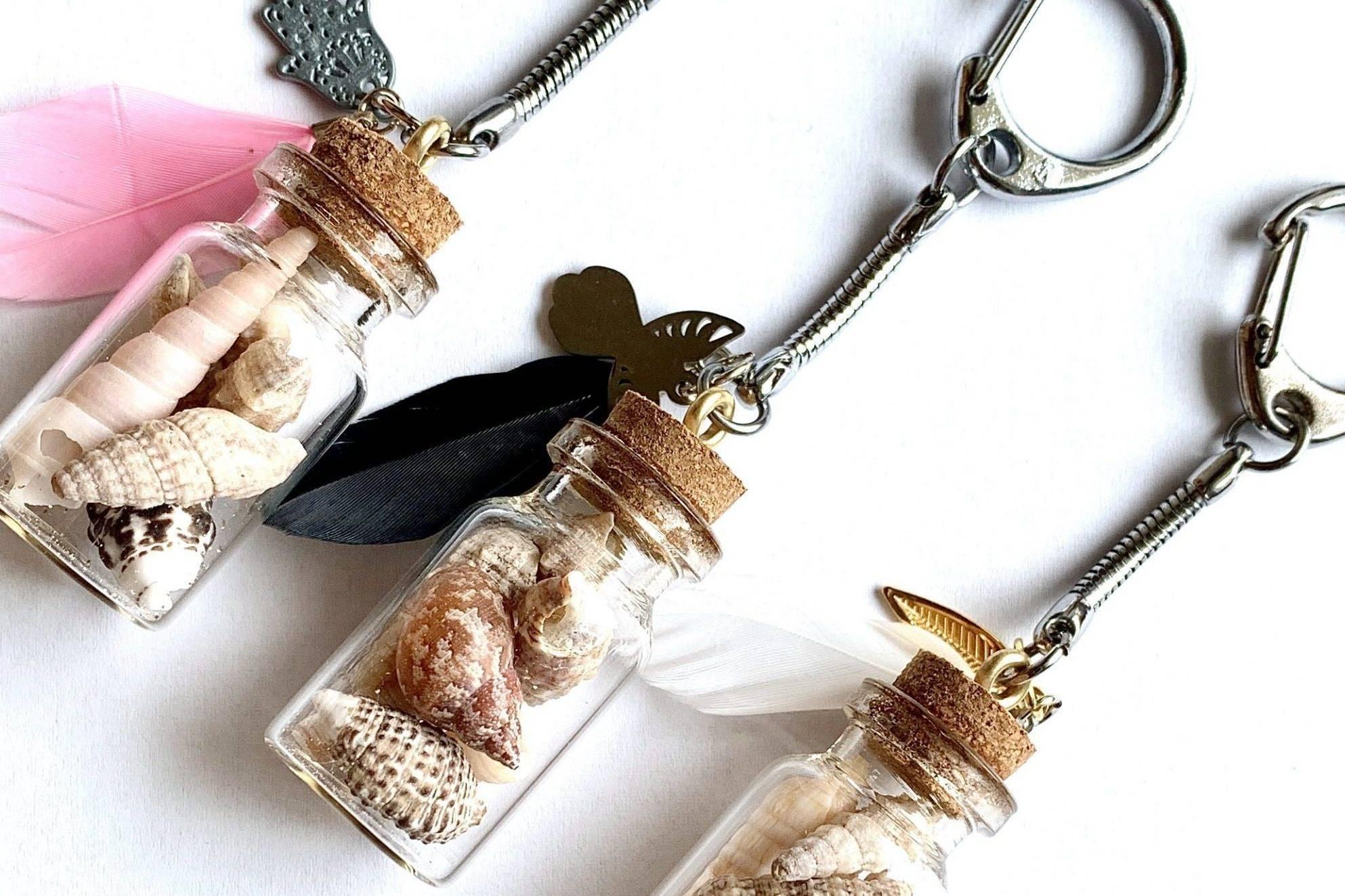 Seashell-jewelry-handmade-handgemachter-Schlüsselanhänger