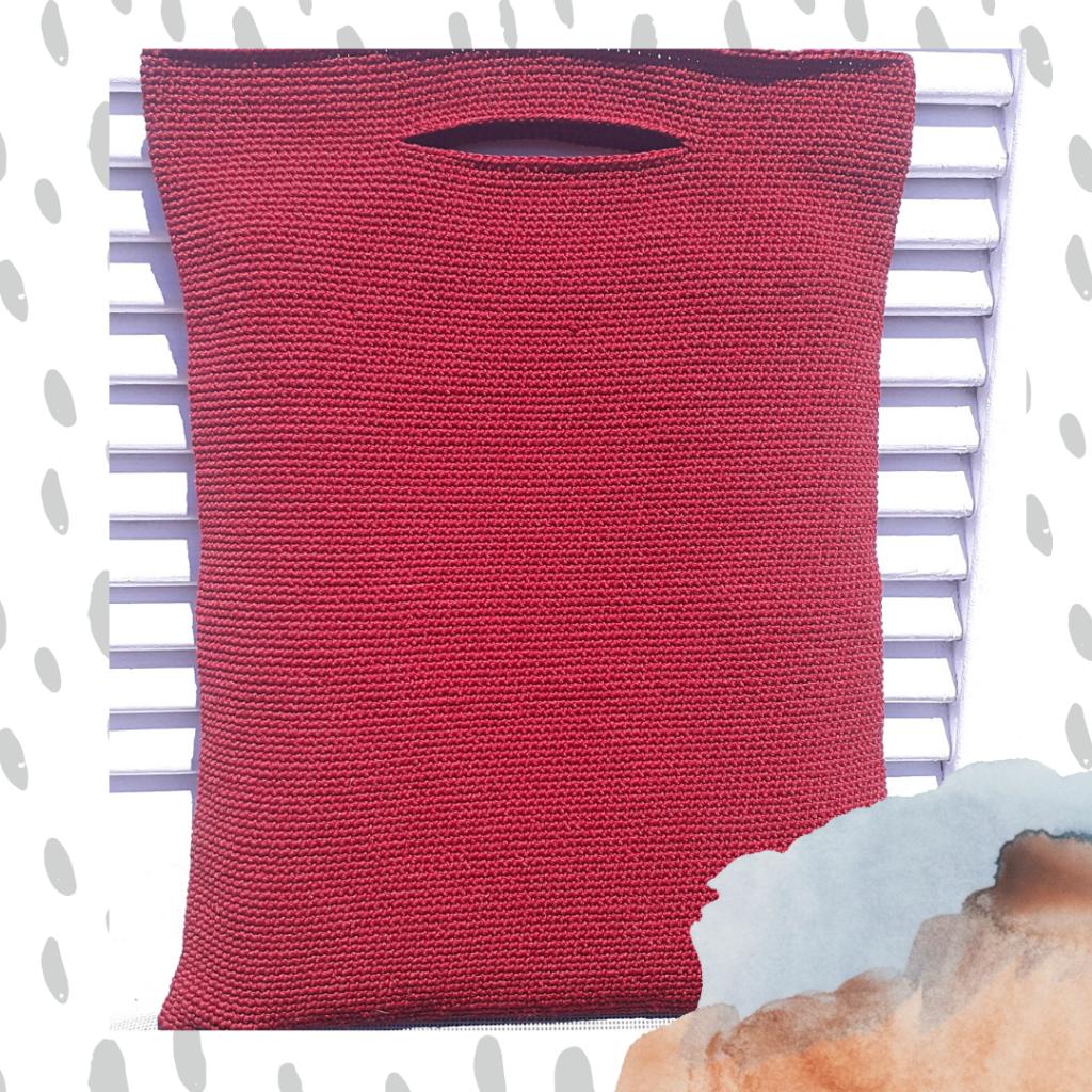 Deep-Soul-handcrafted-Häkeln-rote Tasche