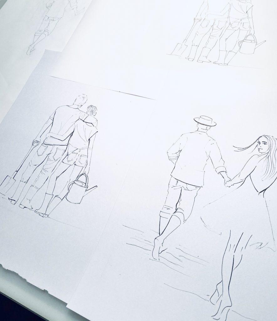 Lütteblüten-Sonntagsmädchen-Illustration