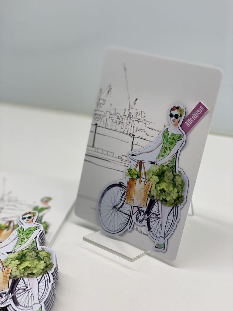 Lütteblüten-Sonntagsmädchen-Magneten-Illustration