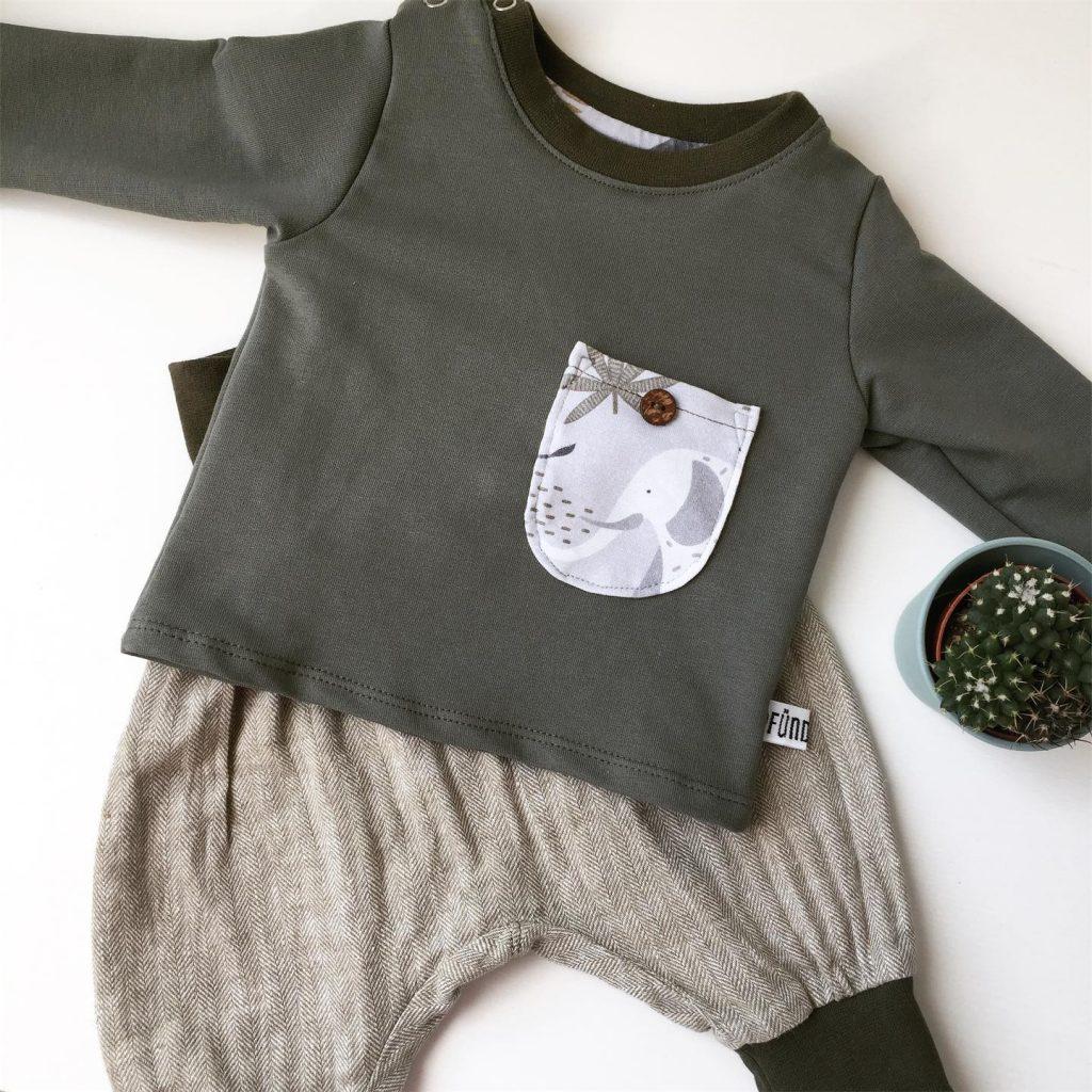 Pfündchen Lieblingsstücke-handgenäht-Newborn-Set