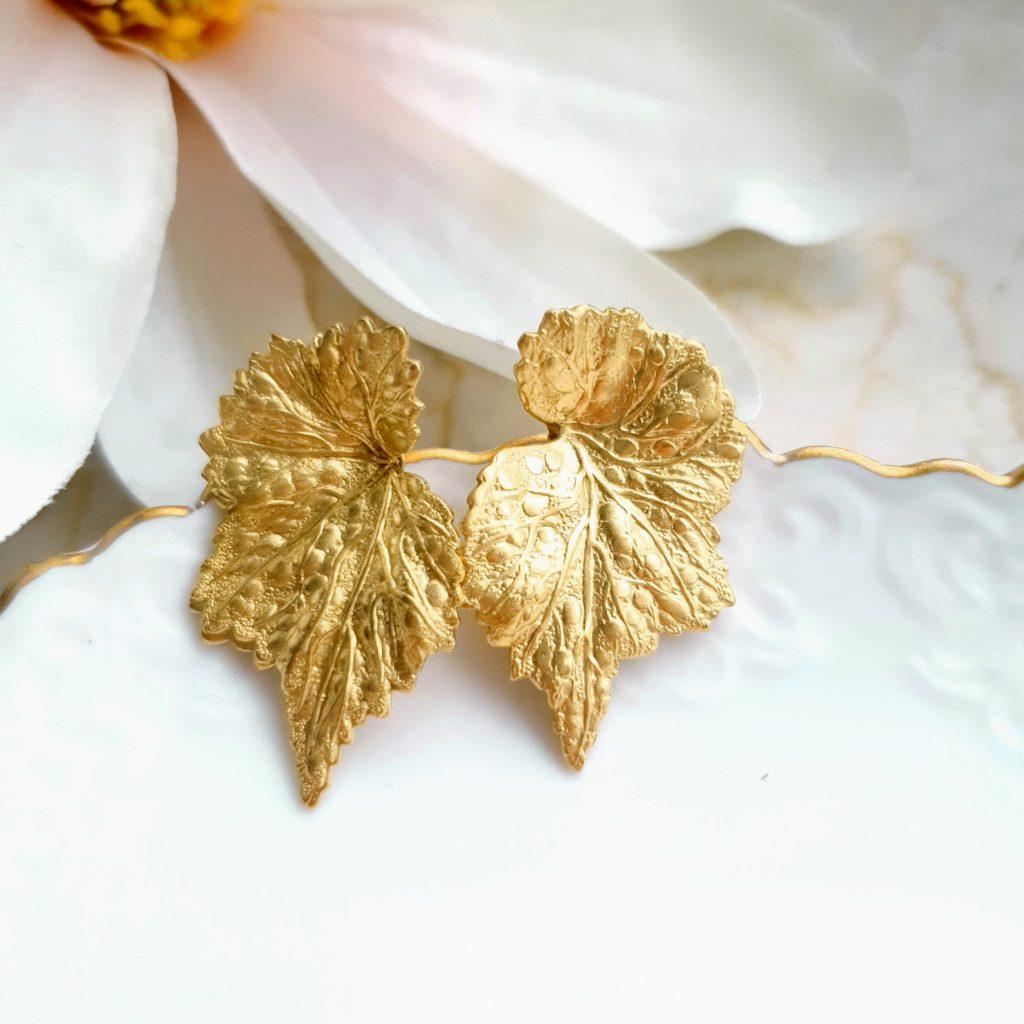 Kirschrot-Schmuckdesign-Ohrringe-Blätter
