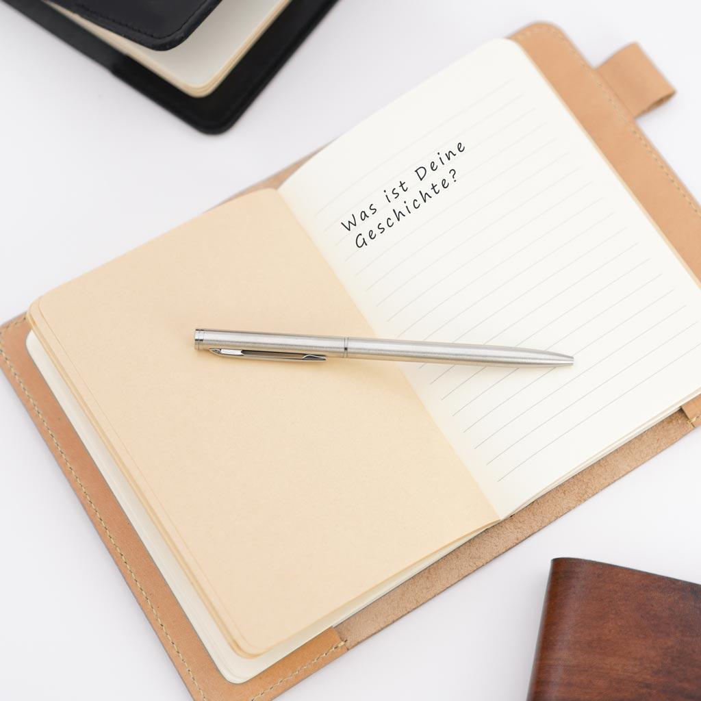 Notizbuch innen Jurtenleder