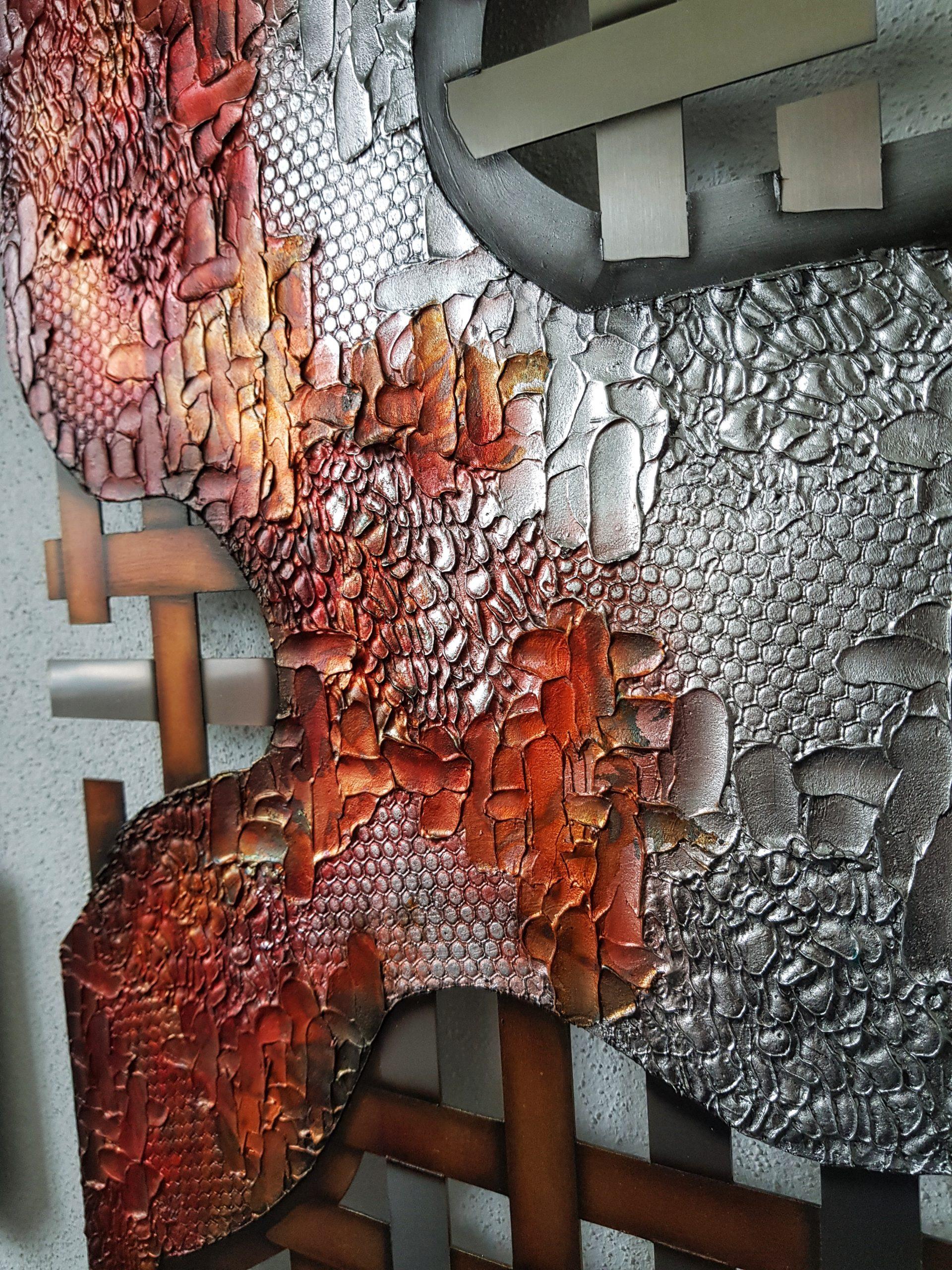 Edelstahlbild-Detail