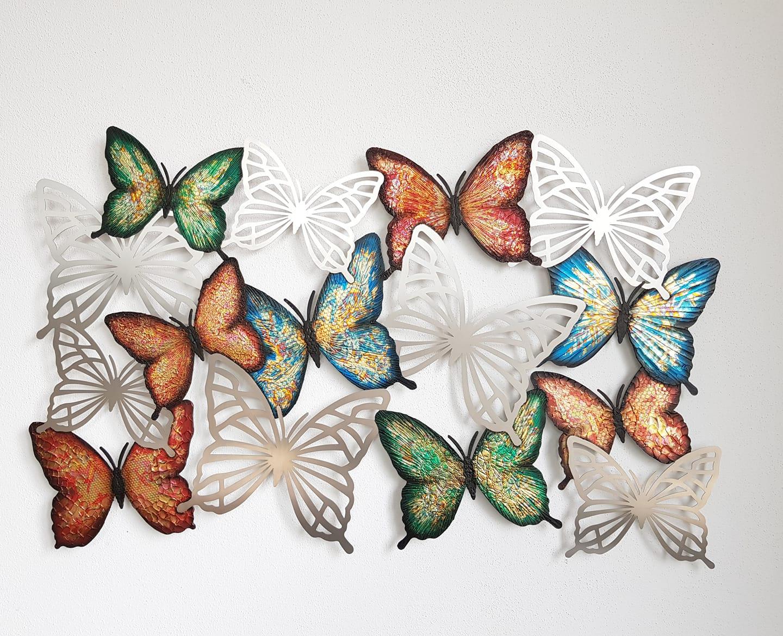 Edelstahlbild Schmetterlinge